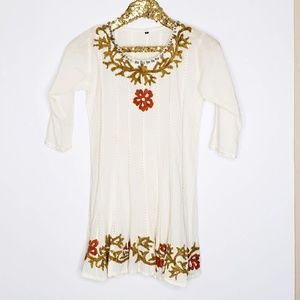 Anthropologie Beach Style Tunic Dress Sequin Reef